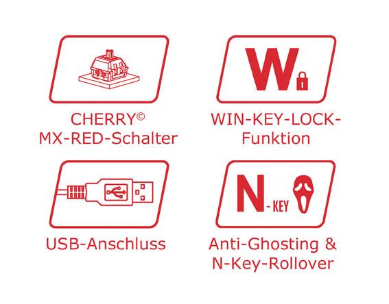 Mechanische Tastatur LC-KEY-MECH-1 Logos