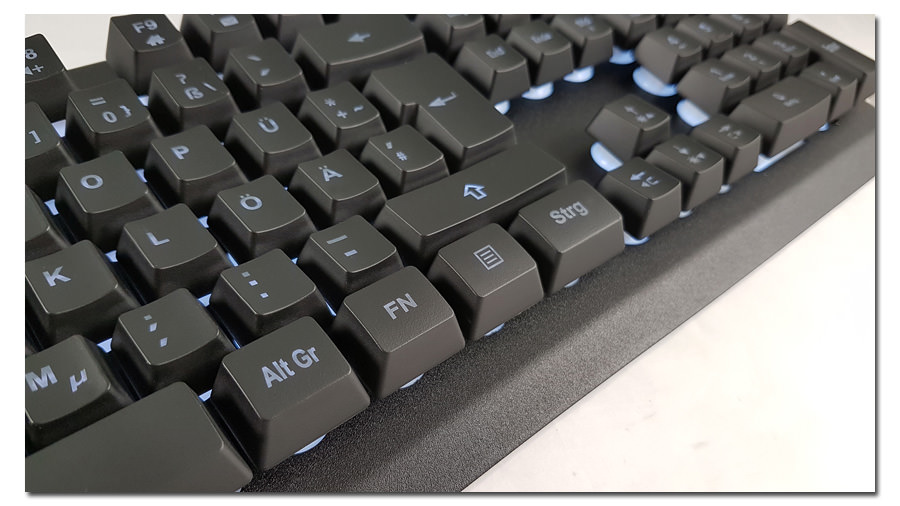 Keyboard LC-KEY-4B-LED close-up