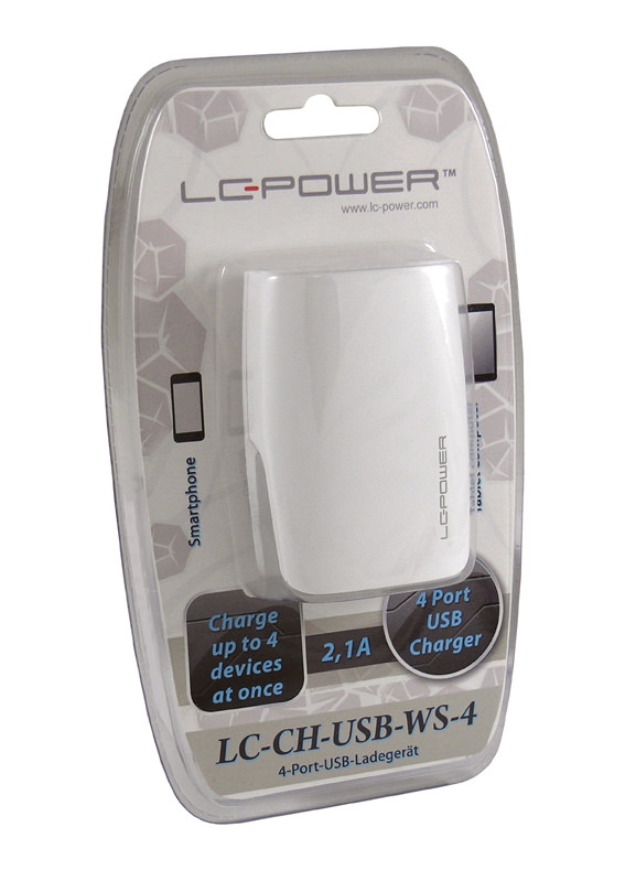 USB charger LC-CH-USB-WS-4 - retail