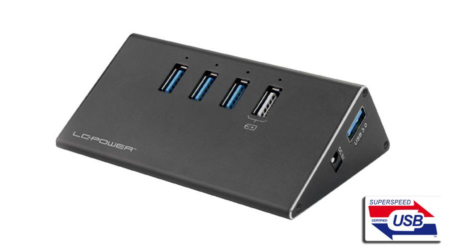 USB-Hub - LC-HUB-ALU-2B-4