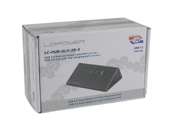 USB-Hub - LC-HUB-ALU-2B-4 - Verkaufsverpackung