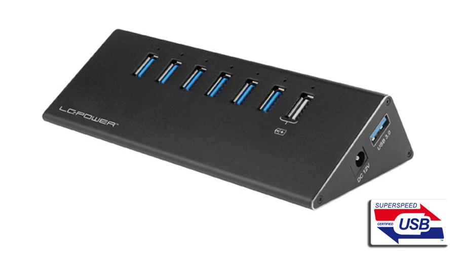 USB-Hub - LC-HUB-ALU-2B-7