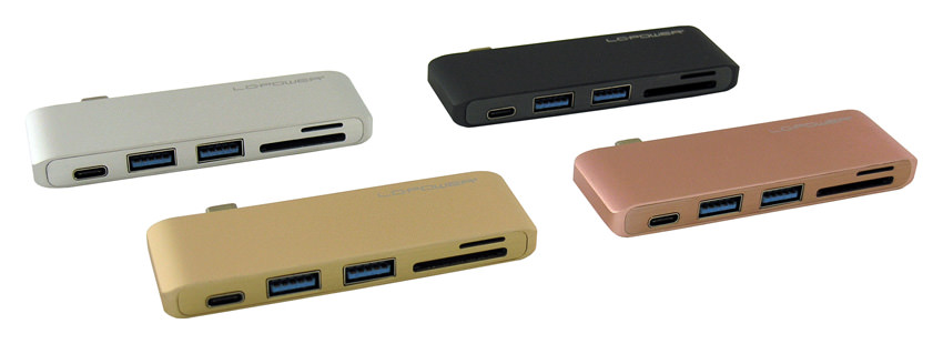USB hub - LC-HUB-C-MULTI-2 - colour overview