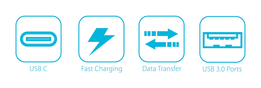 USB hub - LC-HUB-C-PD - logos