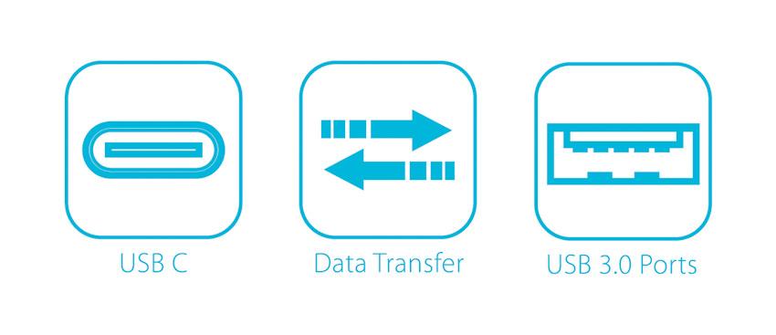 USB hub - LC-HUB-C - logos