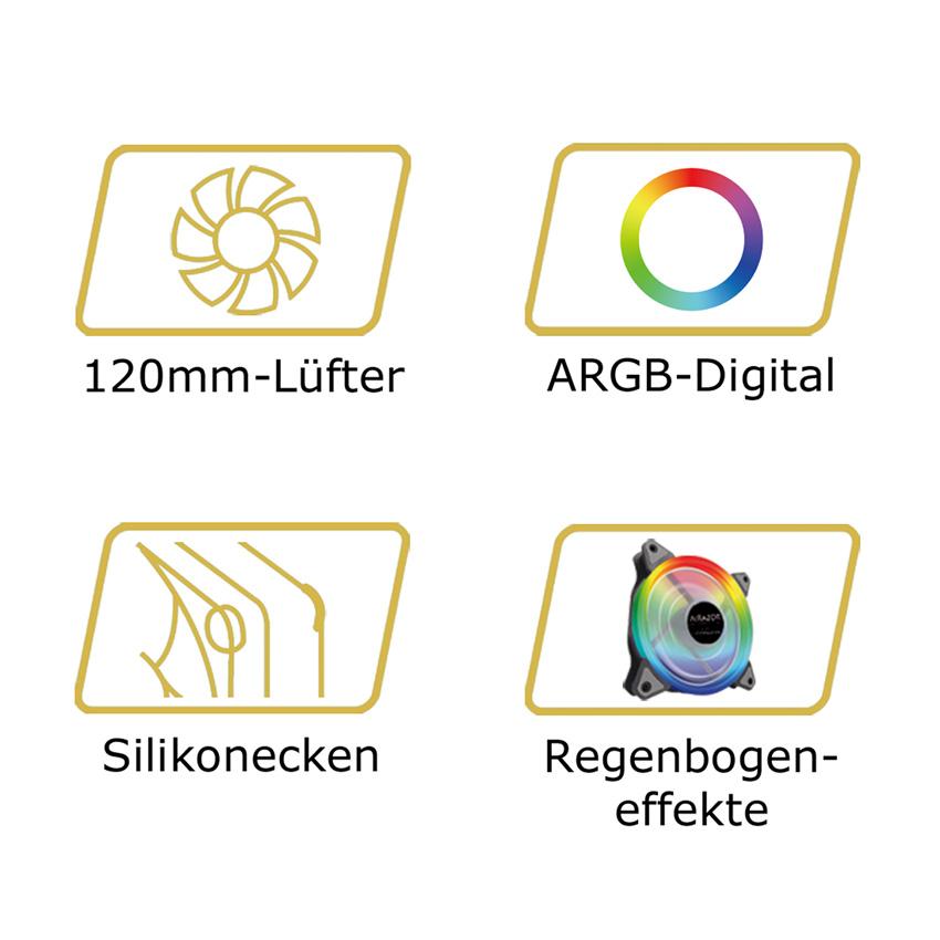 Gehäuselüfter AR-F120RGB Logos