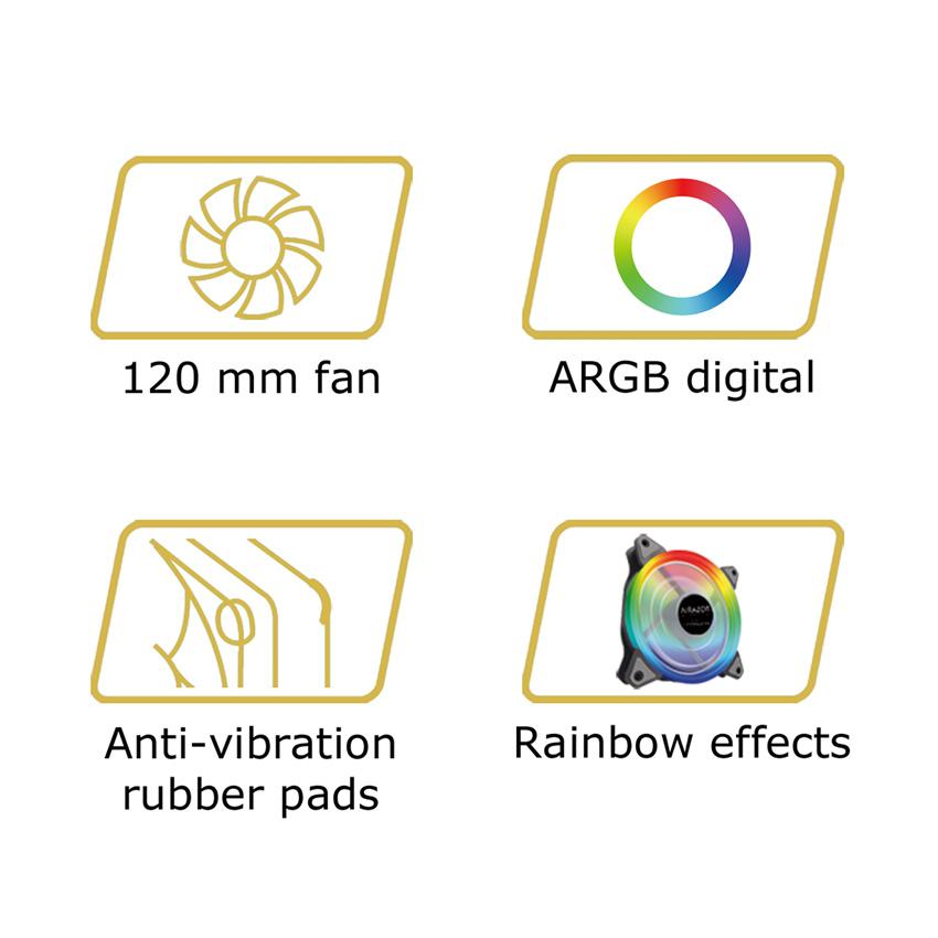 Case fan AR-F120RGB logos