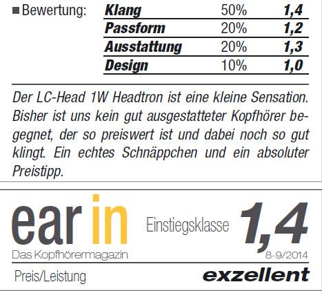 Ear-In - Das Kopfhörermagazin - 8-9/2014 - Germany